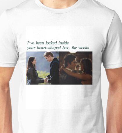 The Vampire Diaries, Delena and Stelena  Unisex T-Shirt