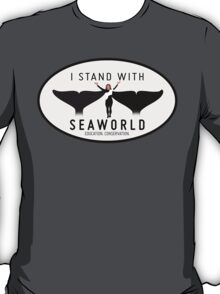 """I Stand With SeaWorld"" Logo T-Shirt"