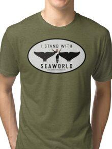 """I Stand With SeaWorld"" Logo Tri-blend T-Shirt"