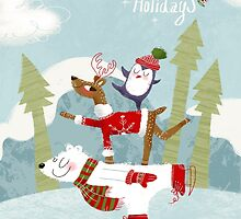 Holiday on Ice Greeting card by SillyHilli