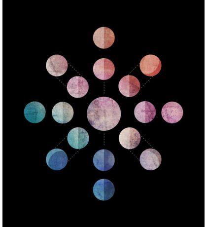 Lunar Cycle (Dark) Sticker
