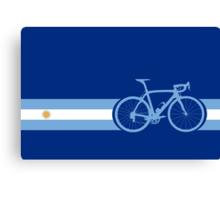 Bike Stripes Argentina Canvas Print
