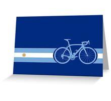 Bike Stripes Argentina Greeting Card