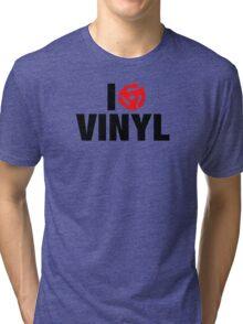 I Spin Vinyl Tri-blend T-Shirt