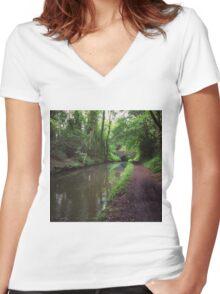 Riverside walks Women's Fitted V-Neck T-Shirt