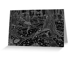 Nocturnal Animals of the Forest Greeting Card