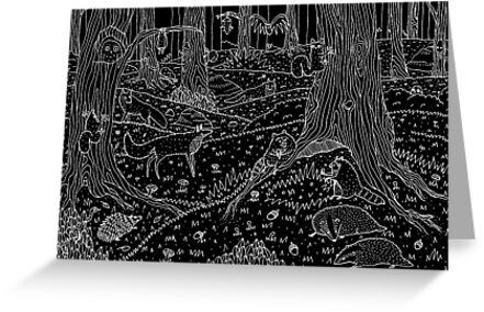 Nocturnal Animals of the Forest by Sophie Corrigan