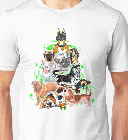 Dog Lover Person christmas tree Lab teeshirt Unisex T-Shirt