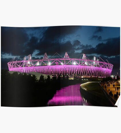 London Olympic Stadium Poster