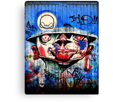 Graffiti Blue Canvas Print