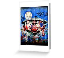 Graffiti Blue Greeting Card