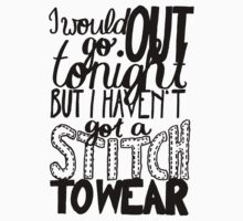 "This Charming Man The Smiths Quote ""I would go out tonight but I haven't got a stitch to wear"" Typography by wholockism"