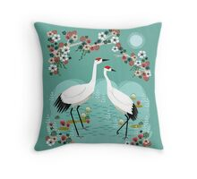 Cranes by Andrea Lauren Throw Pillow