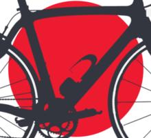 Bike Flag Japan (Big - Highlight) Sticker