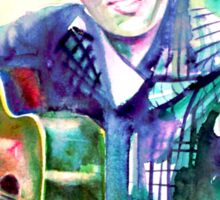 ELVIS playing the guitar - watercolor portrait Sticker