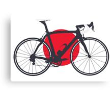 Bike Flag Japan (Big - Highlight) Canvas Print