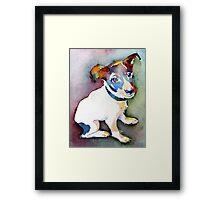 Tiny Pup Framed Print