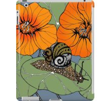 Snail with Nasturtiums iPad Case/Skin