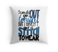 "This Charming Man The Smiths Color ""I Would Go Out Tonight But I Haven't Got a Stitch to Wear"" Typography Quote Indie Throw Pillow"