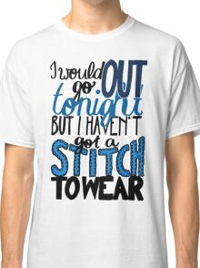 "This Charming Man The Smiths Color ""I Would Go Out Tonight But I Haven't Got a Stitch to Wear"" Typography Quote Indie Classic T-Shirt"