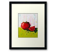 Plump Red Tomato Framed Print