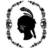 Native American Girl Silhouette by haidishabrina