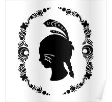 Native American Girl Silhouette Poster
