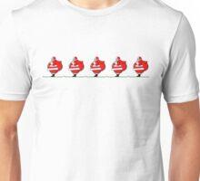 Skiing Santa Claus Unisex T-Shirt