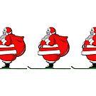 Skiing Santa Claus by Edward Fielding