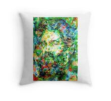 HERMAN MELVILLE watercolor portrait.3 Throw Pillow