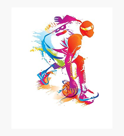 In love with Basketball, unisex design Photographic Print