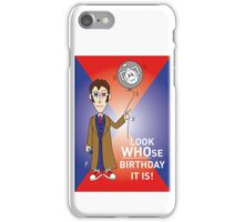 A Tenth Doctor Who themed Birthday Card 3 iPhone Case/Skin