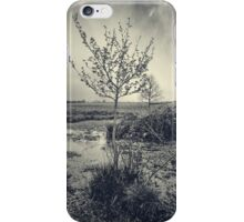Bleached Artsy Tree Scene iPhone Case/Skin