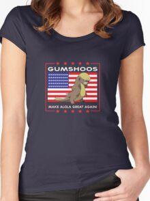 Gumshoos - Make Alola Great Again!  Women's Fitted Scoop T-Shirt