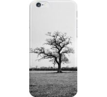 Black and White Lonely Tree iPhone Case/Skin