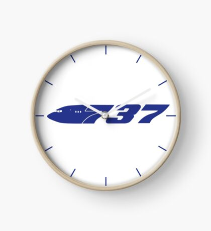 Boeing 737 Blue Clock