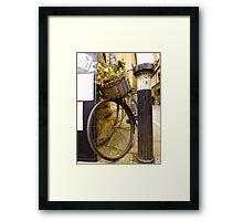 Old Timey Bike Oxford Framed Print
