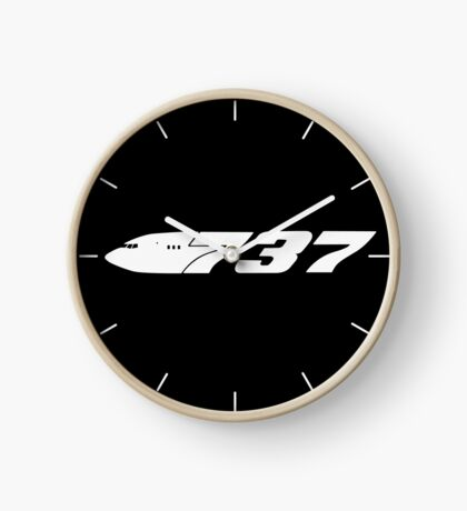 Boeing 737 White Clock