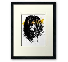 Lion rasta Framed Print