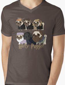 Harry Pugger Mens V-Neck T-Shirt