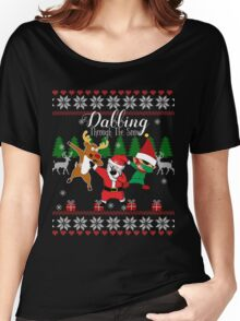 Dabbing Through the Snow Women's Relaxed Fit T-Shirt