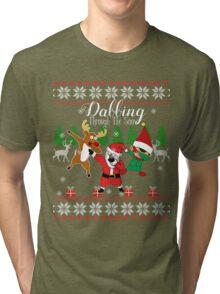 Dabbing Through the Snow Tri-blend T-Shirt