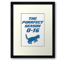 Motor City Kitties Perfect Season Framed Print