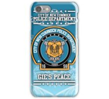 """NCPD """"Gie's Peace"""" Motto iPhone Case/Skin"""