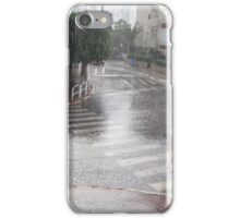 Rain in the city iPhone Case/Skin