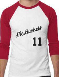 McBuckets Throwback Men's Baseball ¾ T-Shirt