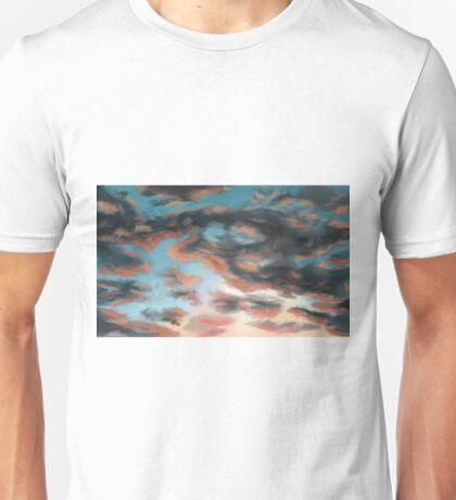 Cloudy Scenery - Digital draw Unisex T-Shirt
