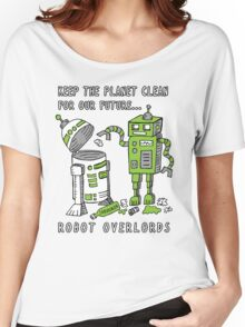 Robot Earth Women's Relaxed Fit T-Shirt