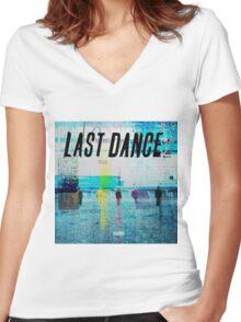 bigbang-last dance Women's Fitted V-Neck T-Shirt