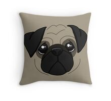 Pug! Throw Pillow